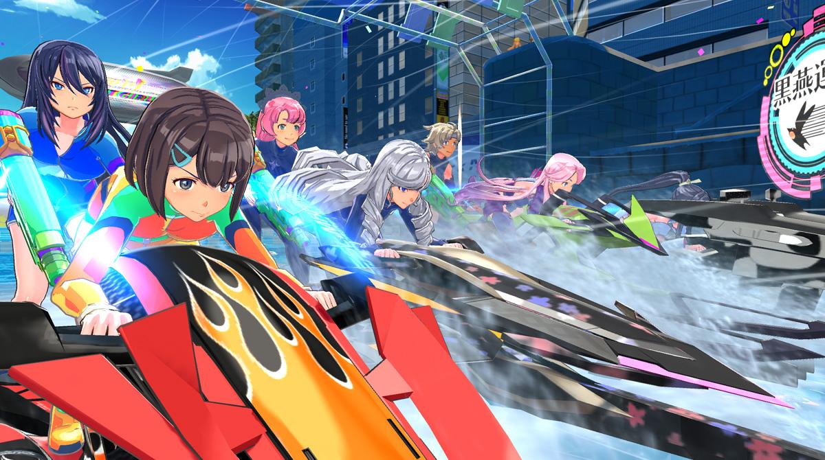 Аниме-девушки в купальниках: гоночная аркада Kandagawa Jet Girls выйдет на западе этим летом