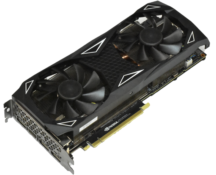 Ускоритель ELSA GeForce RTX 2070 Super Erazor X занимает 2,5 слота расширения