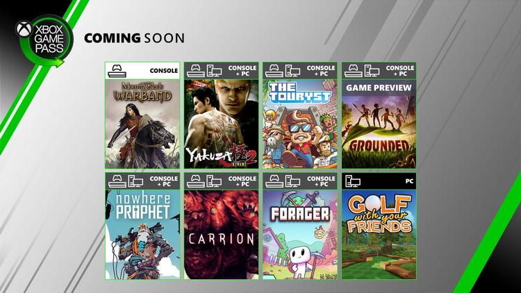 Новинки в Xbox Game Pass: Yakuza Kiwami 2, Mount & Blade: Warband, Carrion и многое другое