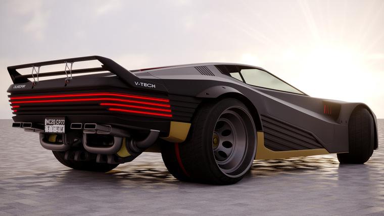 Киберкар Quadra Turbo-R V-Tech из Cyberpunk 2077 стал доступен в Forza Horizon 4