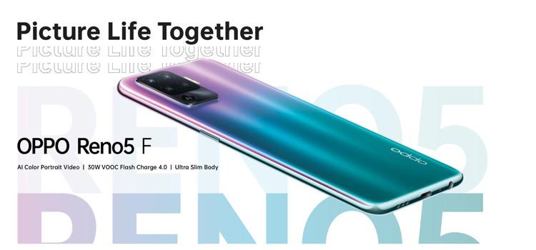 Смартфон OPPO Reno5 F оснащён квадрокамерой и 6,4' дисплеем AMOLED