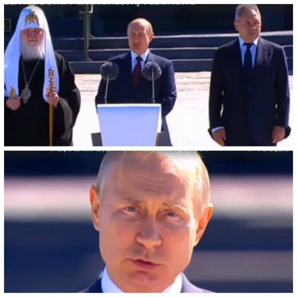 Путин провел День памяти и скорби в главном храме Минобороны