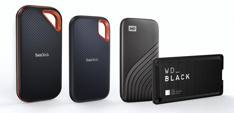 Объем портативных твердотельных накопителей Western Digital достиг 4 ТБ