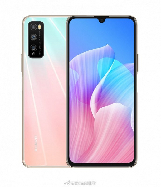 Honor 30 Lite показался на рендере спереди и сзади