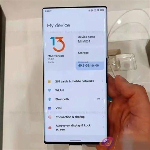 120 Гц, 120 Вт, 50 Мп и MIUI 13. Флагманский Xiaomi Mi Mix 4 позирует на фото вживую