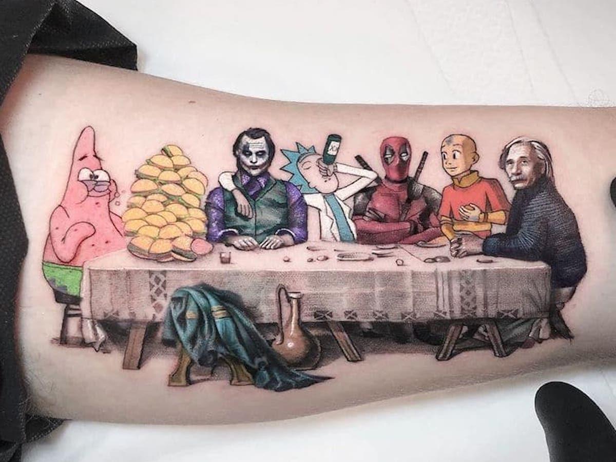 Татуировки, которые сочетают высокое искусство, поп-культуру и не только