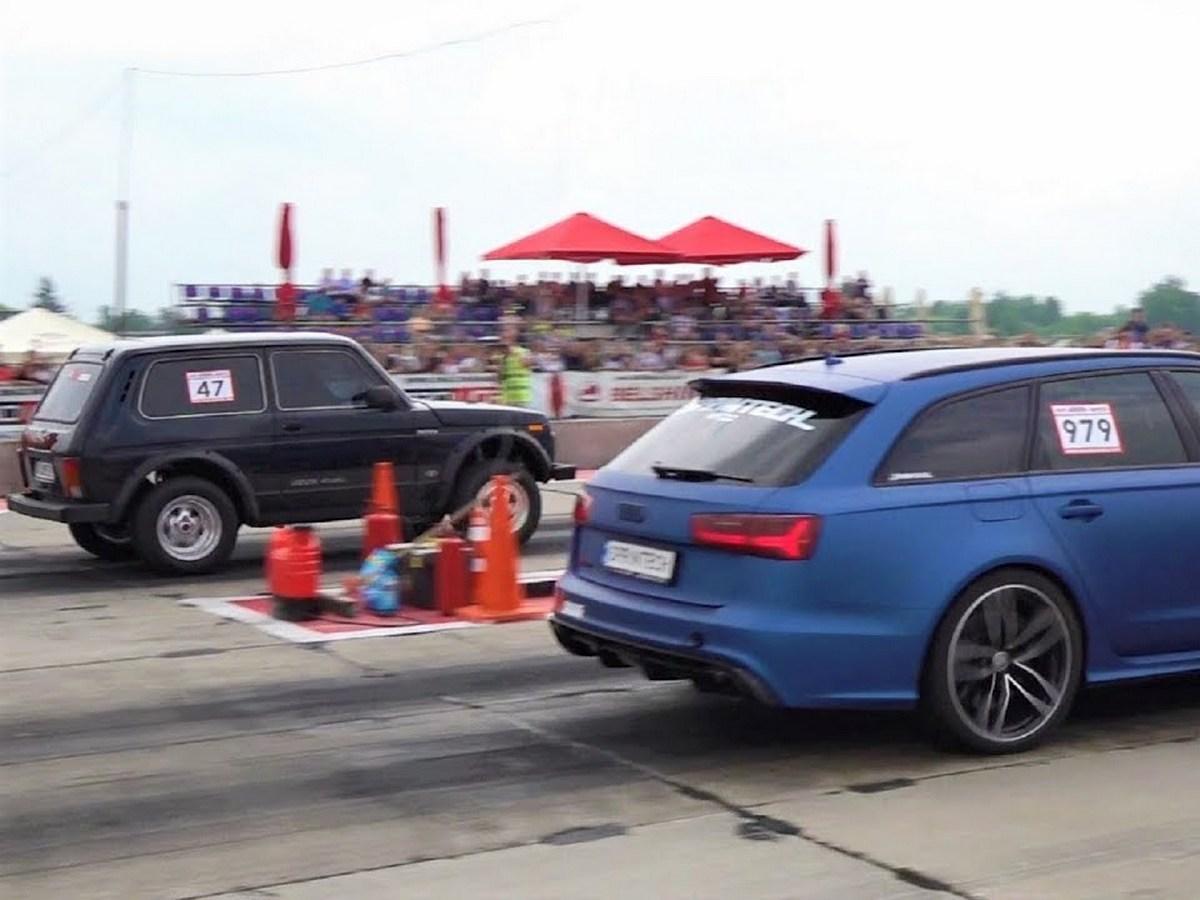 """Нива"" обогнала Audi RS3 на Гран-при Польши по драг-рейсингу"