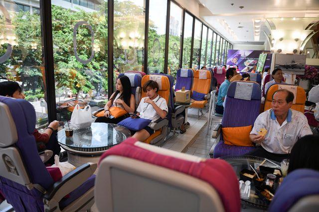 Ресторан-самолет в Таиланде