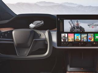 В новой Tesla Model S можно будет поиграть в 'Ведьмака' и Cyberpunk 2077