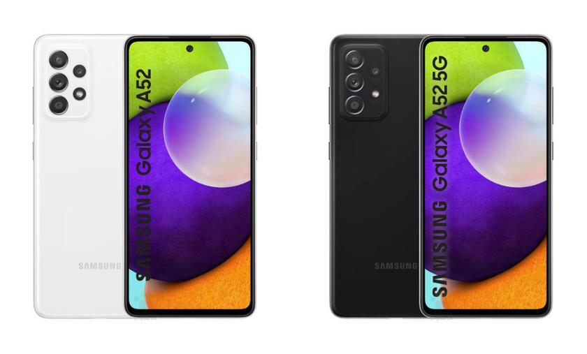 Когда Samsung представит Galaxy A52 5G с чипом Snapdragon 750G, защитой IP67 и квадро-камерой