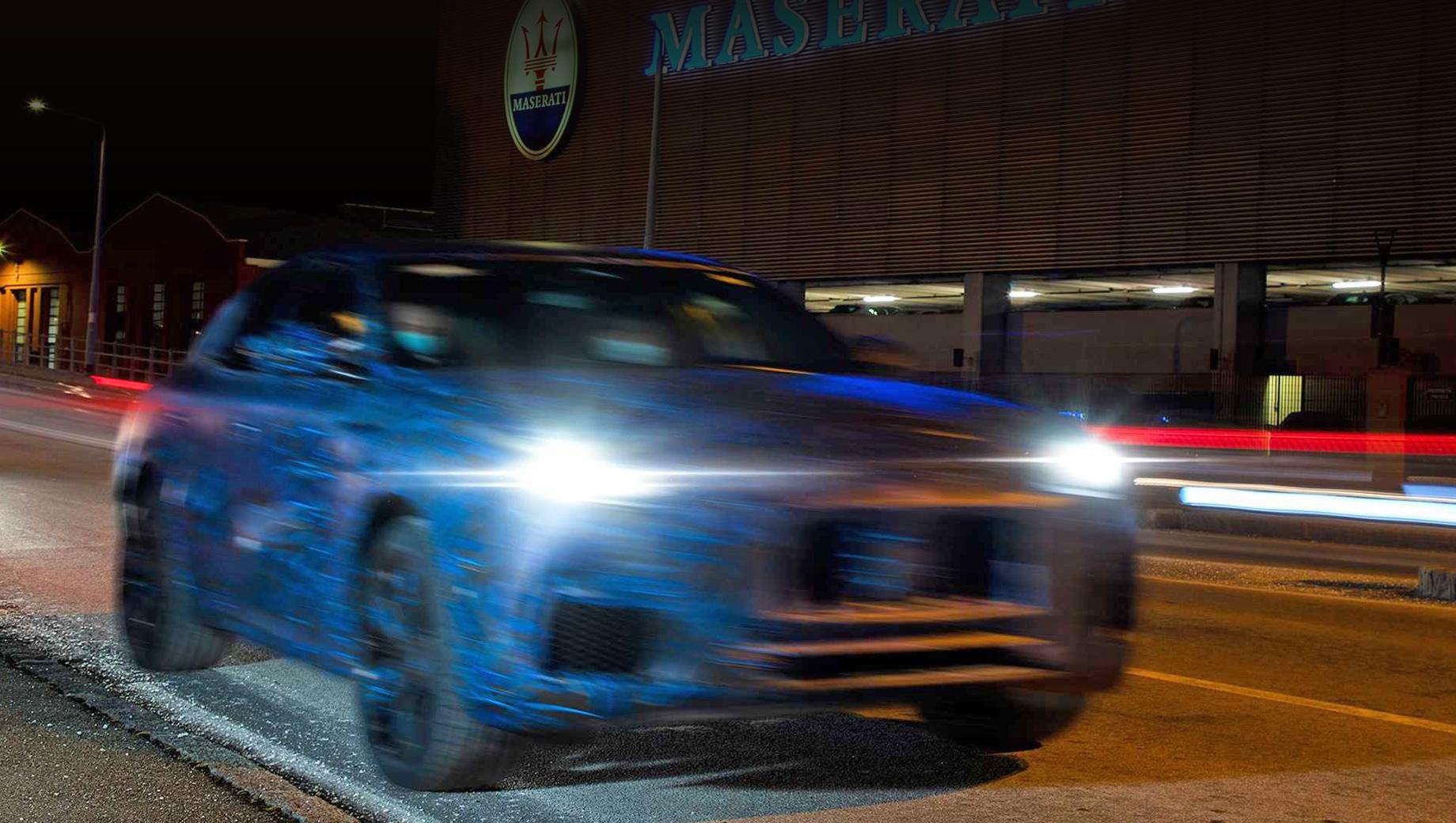 Кроссовер Maserati Grecale раскрыл больше деталей на тизерах