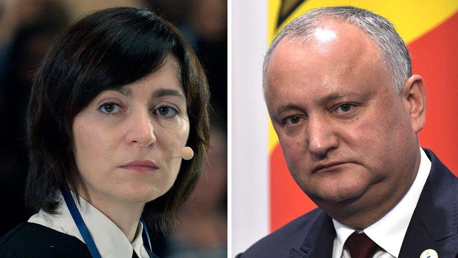 Додон назвал ошибкой заявление Санду о выводе миротворцев РФ из Приднестровья