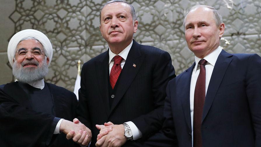 Президенты России, Ирана и Турции начали видеосаммит по Сирии