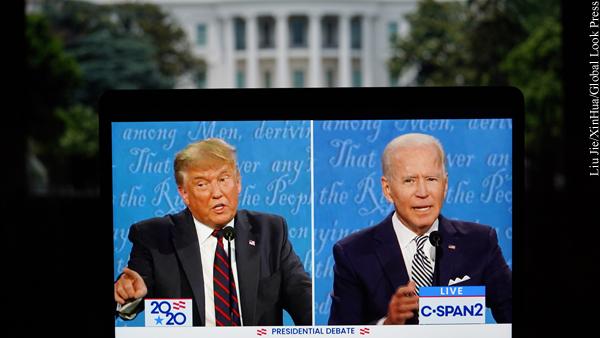 Трамп сократил отставание от Байдена на параллельных телевыступлениях