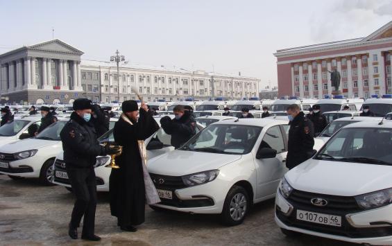 Курские полицейские получили 129 служебных авто