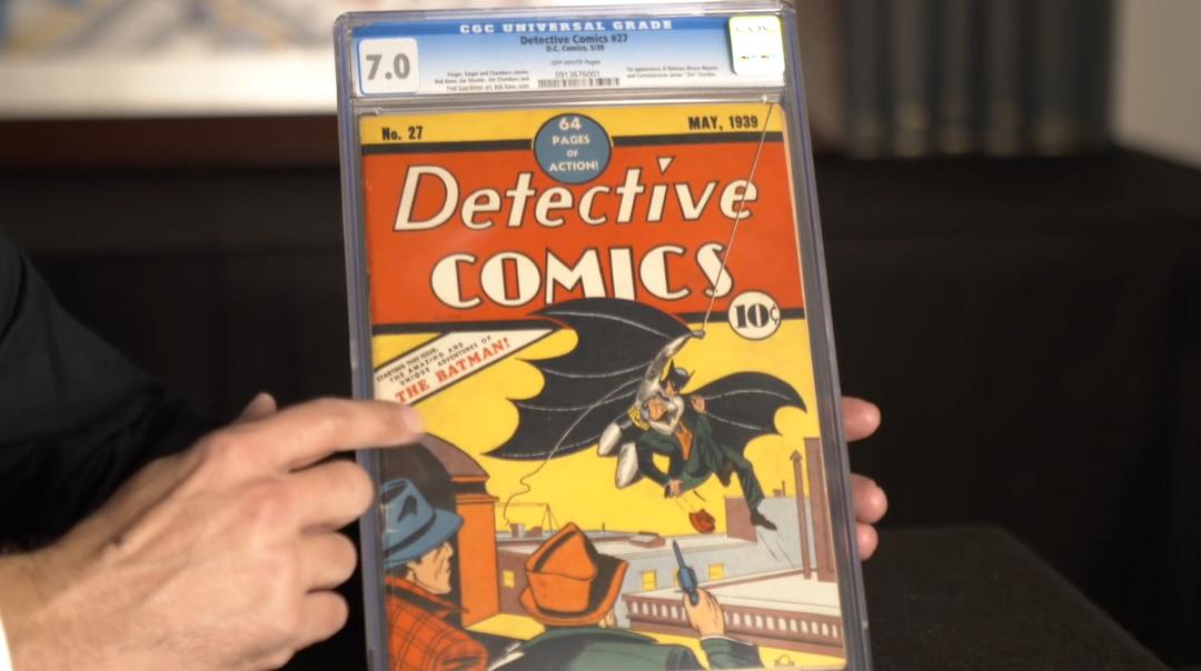 Первый комикс о Бэтмене ушёл с молотка за рекордные $1,5 млн