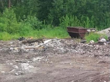 В Гагарине ликвидируют несанкционированную свалку мусора